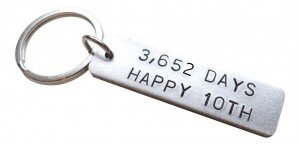 Happy 10th Key Chain